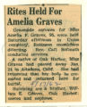 Rites Held for Amelia Graves
