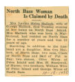 North Bass Woman is Claimed by Death