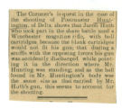 Death of Postmaster Huntington