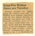 Rites for Walter Jones are Tuesday