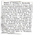 Death of William L. Beckwith