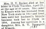 Mrs. H.V. Becker died