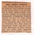 Mrs. Minnie Baining