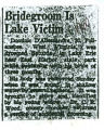 Bridegroom is Lake Victim
