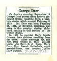 Obituary of George Darr