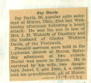 The Obituary of Jay Davis