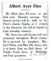 Albert Ayer Obituary