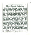 Mrs. Christ Dehring