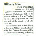 Millbury Man Dies Tuesday