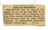 The Obituary of Bon E. Dillinger