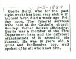 The Obituary of Gorrie Berry