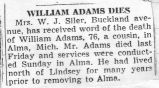 William Adams Dies