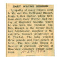 The Obituary of Gary Wayne Brough