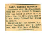 The Obituary of Robert C. Blossey