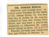 The Obituary of Joseph Byrne