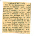 The Obituary of Arthur Billings