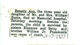 The Obituary of Beverly Ann Burns