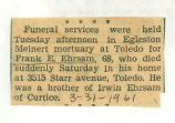 The Obituary of Frank E. Ehrsam