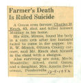Farmer's Death is Ruled Suicide