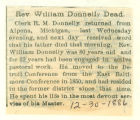 Rev. William Donnelly Dead