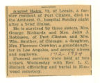 The Obituary of August Heim