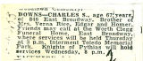 The Obituary of Charles S. Downs