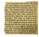 The Obituary of Dresser Infant