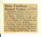 Baby Fitzhum Buried Today