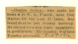 The Obituary of Charles Gielow