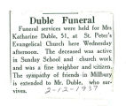 The Obituary of Katharine Duble