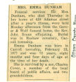 The Obituary of Emma Dunham