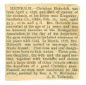The Obituary of Christian Heinrich