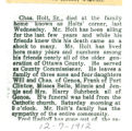 The Obituary of Charles Holt Sr.