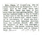 The Obituary of Marguerite Dunn