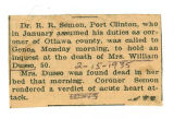 The Obituary of Mrs. William Dusso