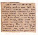 The Obituary of Mrs. Milton Brough