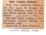 The Obituary of Laura M. Brough