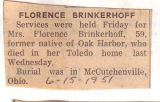 The Obituary of Florence Brinkerhoff