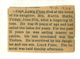 The Obituary of Captain Lewis Floro