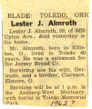 Lester J. Almroth Obituary