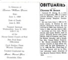 The Obituary of Clarence William Brown