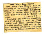 Mrs. Mary Jane Brown
