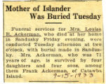 Mother of Islander Was Buried Tuesday