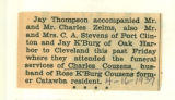 The Obituary of Charles Couzens