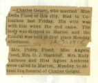 The Obituary of Charles Geiger