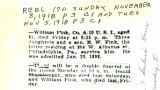 Report of the death of Civil War Veteran William Fink