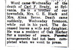The Obituary of Carl F. Brady