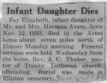 Infant Daughter Dies