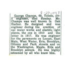 The Obituary of George Champe