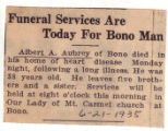 Funeral Services Are Today For Bono Man